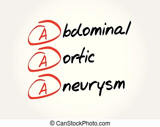 AAA - abdominal aortic aneurysm acronym.