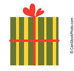 abbild kasten, logo, geschenk, liebe