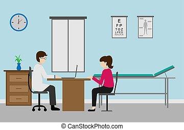 abbildung, beruf, design, doktor, patient