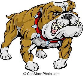 abbildung, clipart, bulldogge