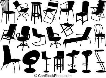 Abbildung der Stühle eingestellt.