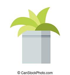 abbildung, haus, wachsen, pflanze, design, natürlich, daheim, element, innenausstattung, vektor, topf