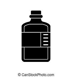 abbildung, ikone, medizinprodukt, vektor, flasche