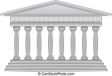 abbildung, kuppel, griechischer , vektor