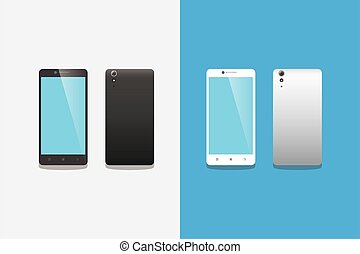 abbildung, steigung, satz, schwarz, smartphone