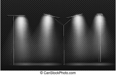 abbildung, straßenlaterne, lampe, leds.vector, post., gebraucht