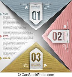 Abbruch des infografischen Designs