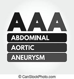 abdominal, aortal, akronym, aaa, aneurysma, -