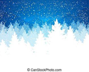 Abendliche Winterlandschaft.