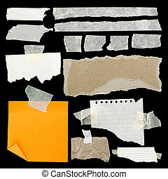 Abgebranntes Papier