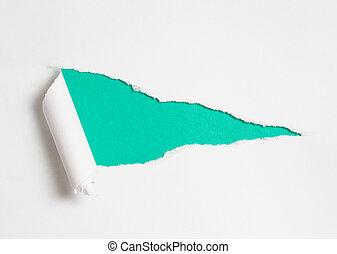 Abgebranntes Papierloch als Hintergrund für deinen Text