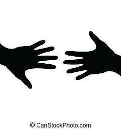 Abgemacht, helfende Hand
