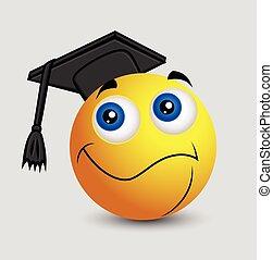 Abschluss - Emoji Smiley Emoticon.