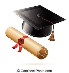 Abschlussball und Diplom