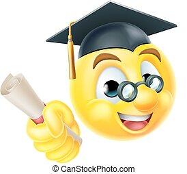 Abschlussfeier Emoji Emoticon.