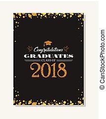 Abschlussfeier Vektorvorlage Einladung zur traditionellen Zeremonie, College, Universität oder High School Studenten Party. Einladung , Poster oder Banner Vorlage.