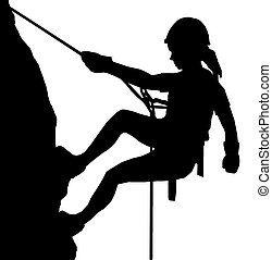abseiling, dame