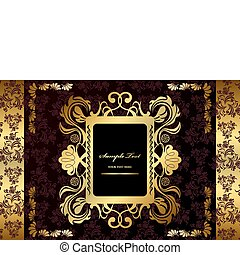 Absperrung des goldenen Luxusrahmens