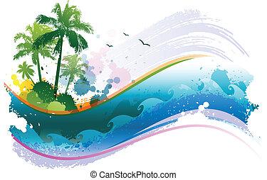 Absperrung tropischer Hintergrund