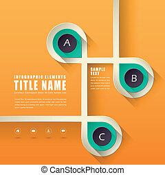 Absperrung von Infographics Design