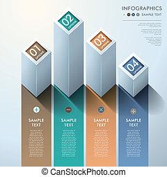 Abstract 3d bar Diagramm Infographics.