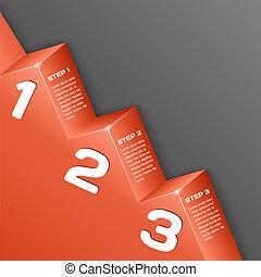Abstract 3D-Nummern Hintergrund