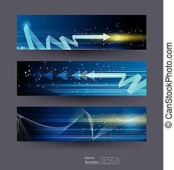 Abstract Banner mit Bild von Geschwindigkeitsbewegungsmuster und Bewegungsunschärfe