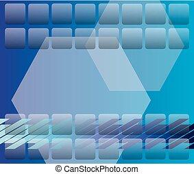 Abstract Blue Design Hintergrund.