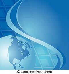 Abstract Blue Hintergrund mit Globus.
