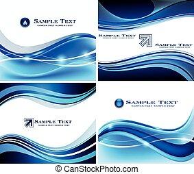 Abstract Blue Hintergrundset.