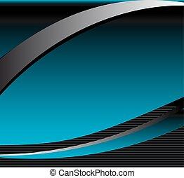 Abstract Blue Wave Hintergrund mit.