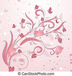 Abstract Blumenmuster rosa.