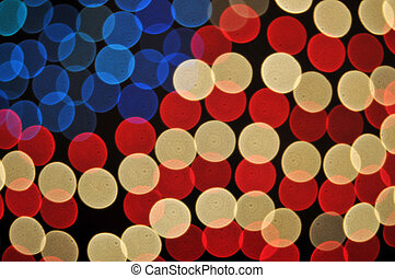 Abstract Bokeh American Flag Hintergrund.