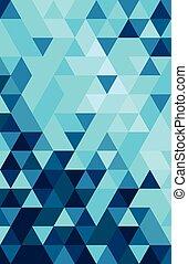 Abstract buntes Dreieck.