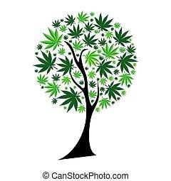 Abstract Cannabis Baum Hintergrund vektor Illustration.