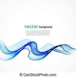 Abstract colorful Blue Vektor Hintergrund mit gebogenen Linien