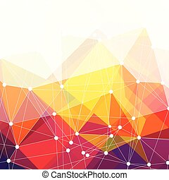 Abstract colorful Dreiecks Design, Vektor Hintergrund.