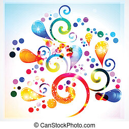 Abstract colorful floral.