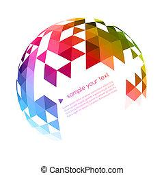 Abstract colorful geometrischen Hintergrund