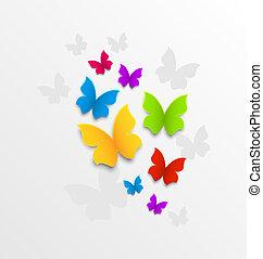 Abstract colorful Hintergrund mit Regenbogen Schmetterlingen.