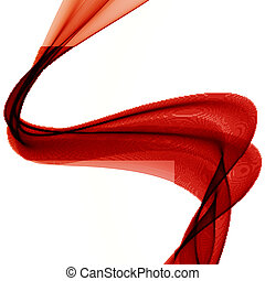Abstract colorful Hintergrund mit roter Rauchwelle.