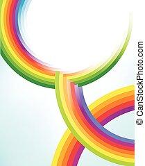 Abstract colorful Regenbogen Kreise Texturen.