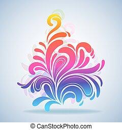 Abstract colorful Splash Design Element Vektorgrafik.
