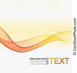 Abstract colorful Vektor Hintergrund mit gebogenen Linien.