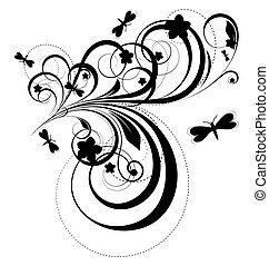 Abstract Design Flora Art.