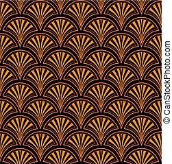 Abstract ethnischen Blumenfliesenmuster. Japanische Dekoration. Orientalischer Ornamente nahtloser Hintergrund
