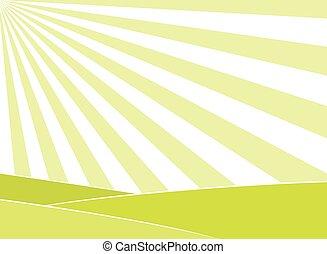 Abstract Feld und Sonnenstrahlen Hintergrund