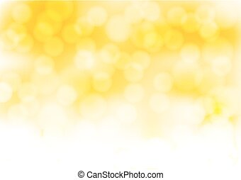 Abstract Gold Hintergrund mit verschwommenen Lichteffekten. Vector Illustration