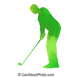 Abstract Green Golfspieler.