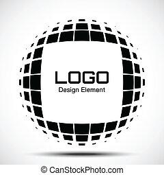 Abstract Halftone Logo Design Element.